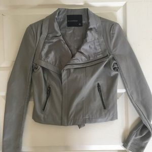 Jackets & Blazers - Cute grey leather jacket